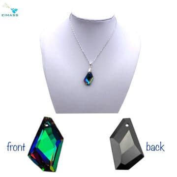 Purple Teal Flare Hexagon - EIMASS® Crystal Pendant