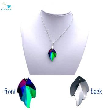 Purple Teal Flare Leaf - EIMASS® Crystal Pendant