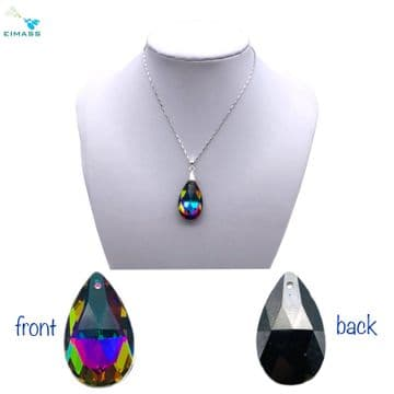 Purple Teal Flare Pear Shape - EIMASS®  Crystal Teardrop Pendant