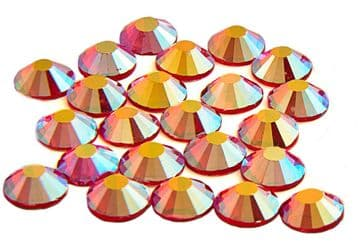 Red Flare, EIMASS® 7747 Range Hot Fix Flat Back Glass Crystals - Small Packs