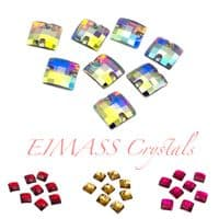 Resin Square Grid Sew or Glue on Flat Back Crystals