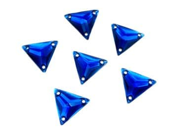 Sapphire Blue Triangle, EIMASS® Resin Crystals, Sew on Glue on  Stones