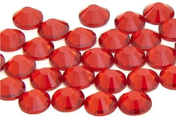 Siam Red, EIMASS® 7787 Grade A Flat-Back Non-Hot Fix Glass Crystals (Small Packs)