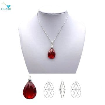Siam Red Teardrop Shape Pendant - EIMASS® Elements Zircon Gifts, Swarovski Alternative
