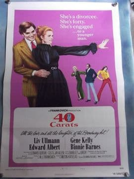 40 Carats, Movie Poster, Gene Kelly, Liv Ullmann, '73
