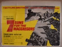 7 Guns For the MacGregors (1966)  - UK Quad Poster