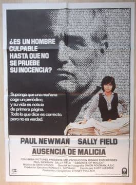 Original Film Posters - Absence of Malice | Paul Newman | Spanish Movie Poster