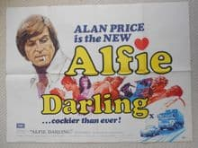 Alfie Darling (1976) Vintage Movie Poster - UK Quad