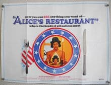 Alices Restaurant, Original UK Quad Poster, Arlo Guthrie, '69