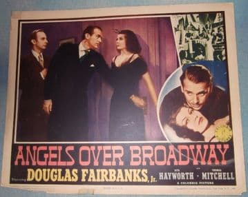 Angels Over Broadway,Vintage Lobby Card,Rita Hayworth,Douglas Fairbanks Jr,'40