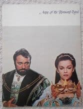 Anne of a Thousand Days, souvenir book, Richard Burton, Genevieve Bujold, '69