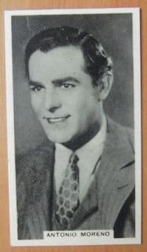 Antonio Moreno, Cigarette Card, Godfrey Phillips, Cinema Stars, 1930 card #14