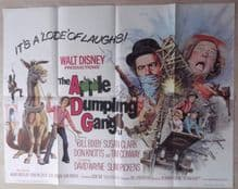 Apple Dumpling Gang. Original UK Quad Poster, Bill Bixby, Susan Clark, '75