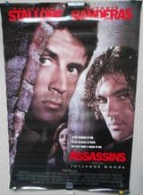 Assassins, Original Movie Poster, Sylvester Stallone, Antonio Banderas, '95