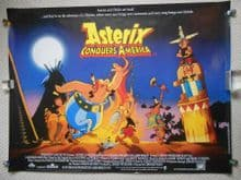 Asterix Conquers America (1994) Vintage Movie Poster - UK Quad