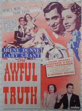Awful Truth, Flyer/Herald, Cary Grant, Irene Dunne, '38