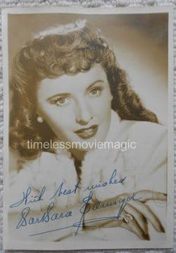 Hollywood Autographs - Barbara Stanwyck | Old Movie Stars