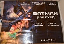 Batman Forever, original UK Quad poster, Jim Carrey, Nicole Kidman Val Kilmer 95