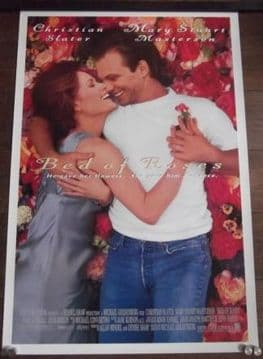 Bed of Roses, Original DS Poster, Christian Slater, Mary Stuart Masterson, '96