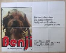 Benji, Original UK Quad Poster, Ed Buchanan, Deborah Whalley, '75