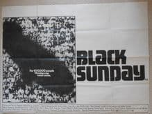 Black Sunday, Original UK Quad Poster, Robert Shaw, Bruce Dern, '77