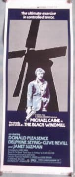 Black Windmill, Insert Movie Poster, Michael Caine in a cool pose!, '74