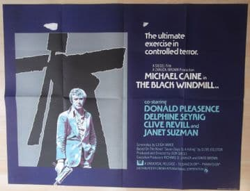 Movie Poster - Black Windmill | UK Quad Poster | Michael Caine