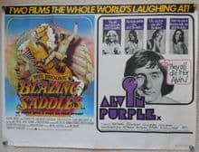 Blazing Saddles/Alvin Purple, Original Combo UK Quad Poster, Mel Brooks, '74