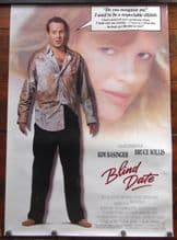 Blind Date, Movie Poster, Bruce Willis, Kim Basinger, '87