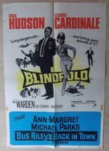Blindfold, English Double Crown Poster, Rock Hudson, Claudia Cardinale, '66
