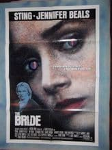 Bride, Movie Poster, Sting, Jennifer Beals, Sting as Dr Frankenstein! '85