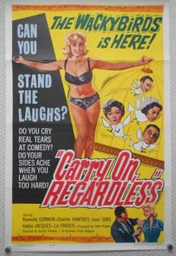 Carry on Regardless, Movie Poster, Sid James, Charles Hawtrey, '61