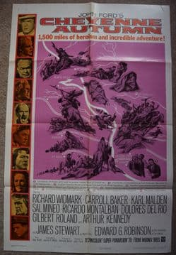 Cheyenne Autumn Film Poster - One Sheet