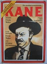 Citizen Kane, Polish Poster, Time Magazine art of Orson Welles by Marszatek! '87
