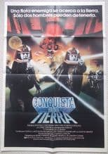 Conquest of the Earth, Original Argentinian Movie Poster, Galactica Film , '81