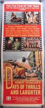 Days of Thrills and Laughter,Vintage Poster,Charlie Chaplin,Laurel and Hardy,Harry Houdini,'61