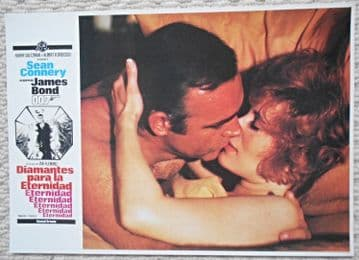 Diamonds are Forever, French press still, Sean Connery kisses Jill St John 71