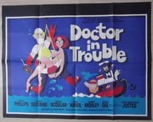 Doctor in Trouble, Original UK Quad Poster, Leslie Phillips, Harry Secombe, '70