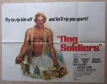 Dog Soldiers, Original UK Quad Poster, Nick Nolte, Tuesday Weld, '78