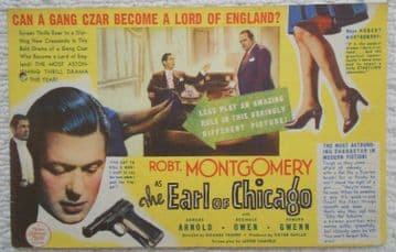 Earl of Chicago, Flyer/Herald, Robert Montgomery, '40