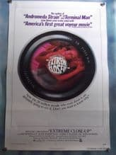 Extreme Close-Up, Movie Poster, Jim McMullan, Katherine Woodville, RARE. '73