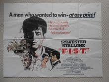 F.I.S.T, Original UK Quad Poster, Sylvester Stallone, Peter Boyle, '78