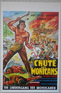 Fall of the Mohicans, Original Belgian Film Poster, Jack Taylor, Barbara Lloy 65