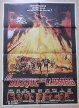 Fire, El Bosque En Llamas, Spanish Movie Poster, Ernest Borgnine, '77