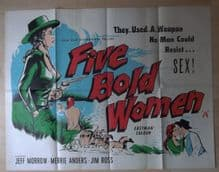 Five Bold Women, Original British Quad Poster, Jeff Morrow, Merry Anders, '60