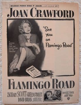Flamingo Road (1949) - Joan Crawford | Vintage Trade Ad
