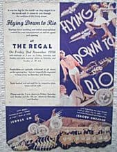 Flying Down to Rio, Flyer/Herald, Dolores Del Rio, Fred Astaire, '34
