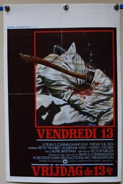 Friday the 13th Horror Poster - Belgian