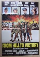 From Hell to Victory, Original Movie Poster, War, Peppard, Hamilton, '79