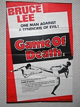 Game of Death, Original UK Film Poster, Bruce Lee, '79